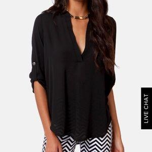 Lush - Top in Black (Size XS)